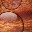 Water drop on wood surface — Lizenzfreies Foto
