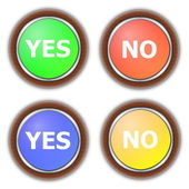 Yes and no button collection — Stock Photo