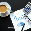 Coffee and financial data — Stock Photo #3563525