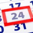 24 calendar day — Stock Photo #3563693