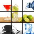 Royalty-Free Stock Photo: Drink collage