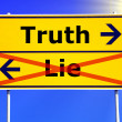 Stock Photo: Truth or lie