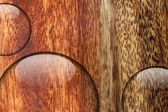 Water drop on wood surface — Stock Photo