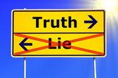 Prawda czy kłamstwo — Zdjęcie stockowe