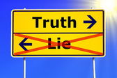 Truth or lie — 图库照片
