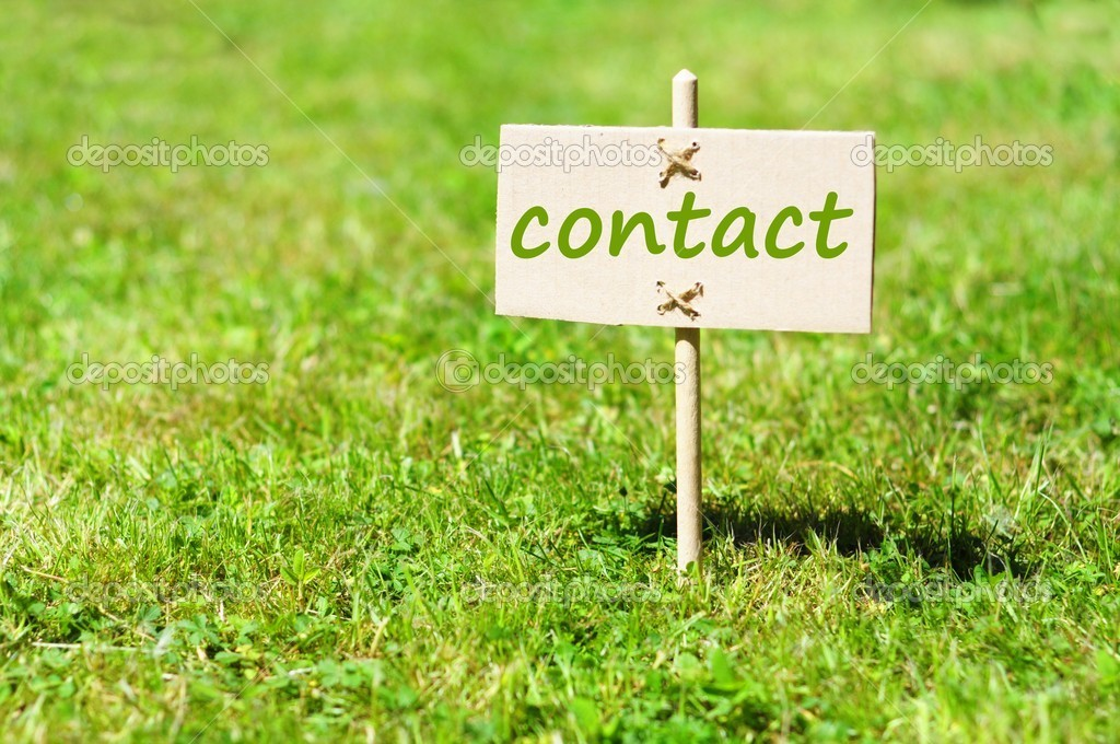 Contact us concept with word on nature still life — Stock Photo #3563758