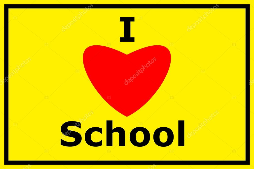  yellow i love school sign showing education concept  Stock Photo #3564128