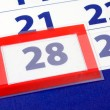 28 calendar day - Stock Photo