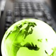Globe and keyboard — Stock Photo #3635373