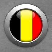 Belgium button — Stock Photo