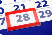 28 calendar day — Stock Photo
