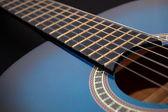 Mavi müzik gitar müzik parti oynamak için — Stok fotoğraf