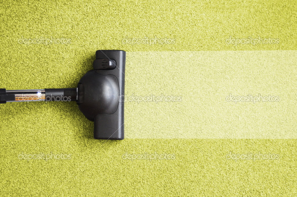 Vacuum cleaner on the floor showing house cleaning concept                                       Foto Stock #3634560