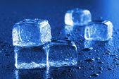 Macro cubo di ghiaccio — Foto Stock