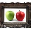Healthy apple - Foto Stock
