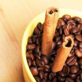 Cynamon i kawy — Zdjęcie stockowe