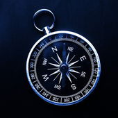 Macro of compass — Stock Photo