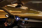 Araba hareket gece — Stok fotoğraf