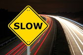 Slow speed is more secure to achive your goals — Stock Photo
