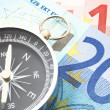 Euro money and compass — Stock Photo #3703488