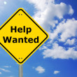 Stockfoto: Help wanted