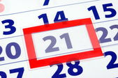 21 calendar day — Stock Photo