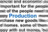 Conceito de produção — Fotografia Stock