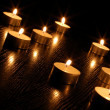 Romantic candle light — Stock Photo