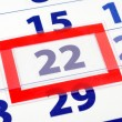 22 calendar day — Stock Photo