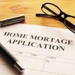 Home mortage application — Stock Photo