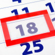 18 calendar day — Stock Photo