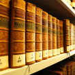 Old books in library — Stock fotografie