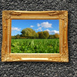 Painting in image frame — Stock Photo