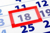 18 kalendertag — Stockfoto
