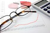 Economic graph — Stock Photo