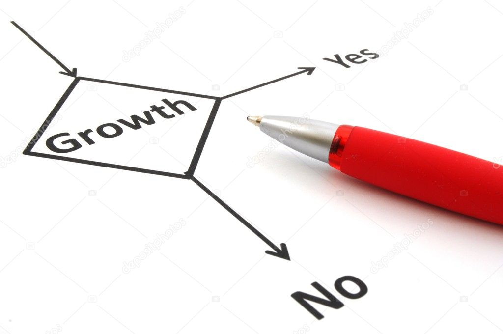 Business or finance concept with word growth in flow chart  Stock Photo #3807001