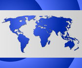 World business card — Stock Photo