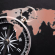 Compass and world map — Stock Photo #3832817