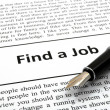 Find a job - Foto Stock