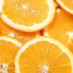 Orange fruit background — Stock Photo