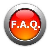 Faq button — Zdjęcie stockowe