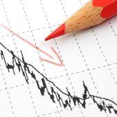 Free fall of the stock market — Stock Photo