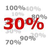 30 procent — Stockfoto