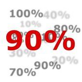 90 procent — Stockfoto