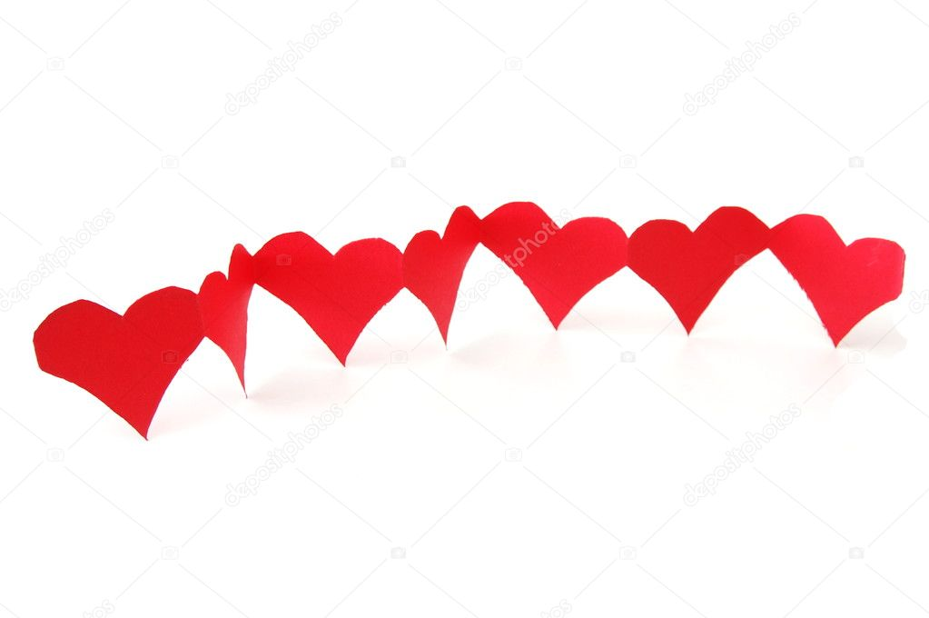 Isolated red hearts showing a concept of love  Stock Photo #3836111