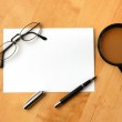 Business still life with copyspace — Stock Photo