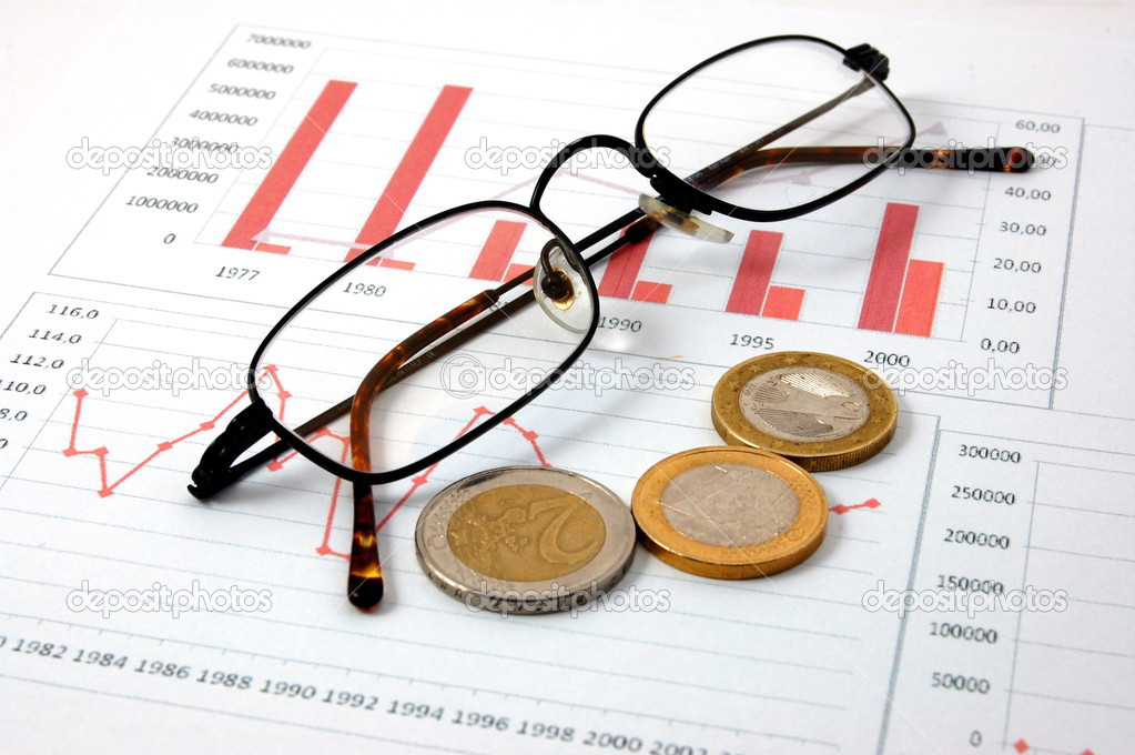 Euro money over business chart showing financial success  — Stock Photo #3869980