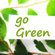 Go green — Foto Stock