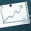 Business graph with arrow showing growth — Stock Photo