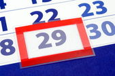 29 calendar day — Stock Photo